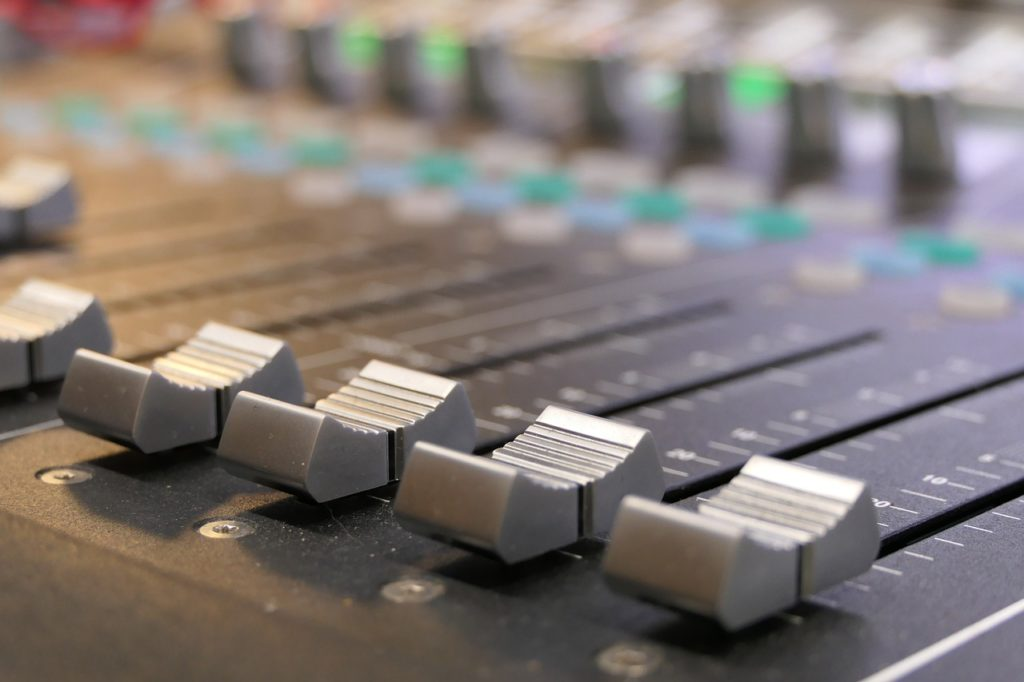 mixing, console, studio